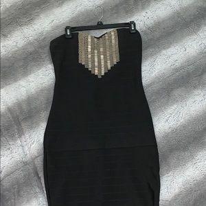 Bebe Size M black night out dress